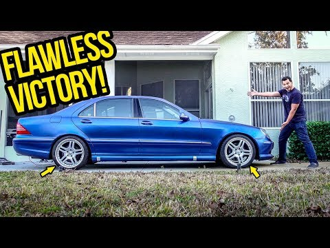 My $3,000 Mercedes S-Class Gets 100% PERFECT STANCE!