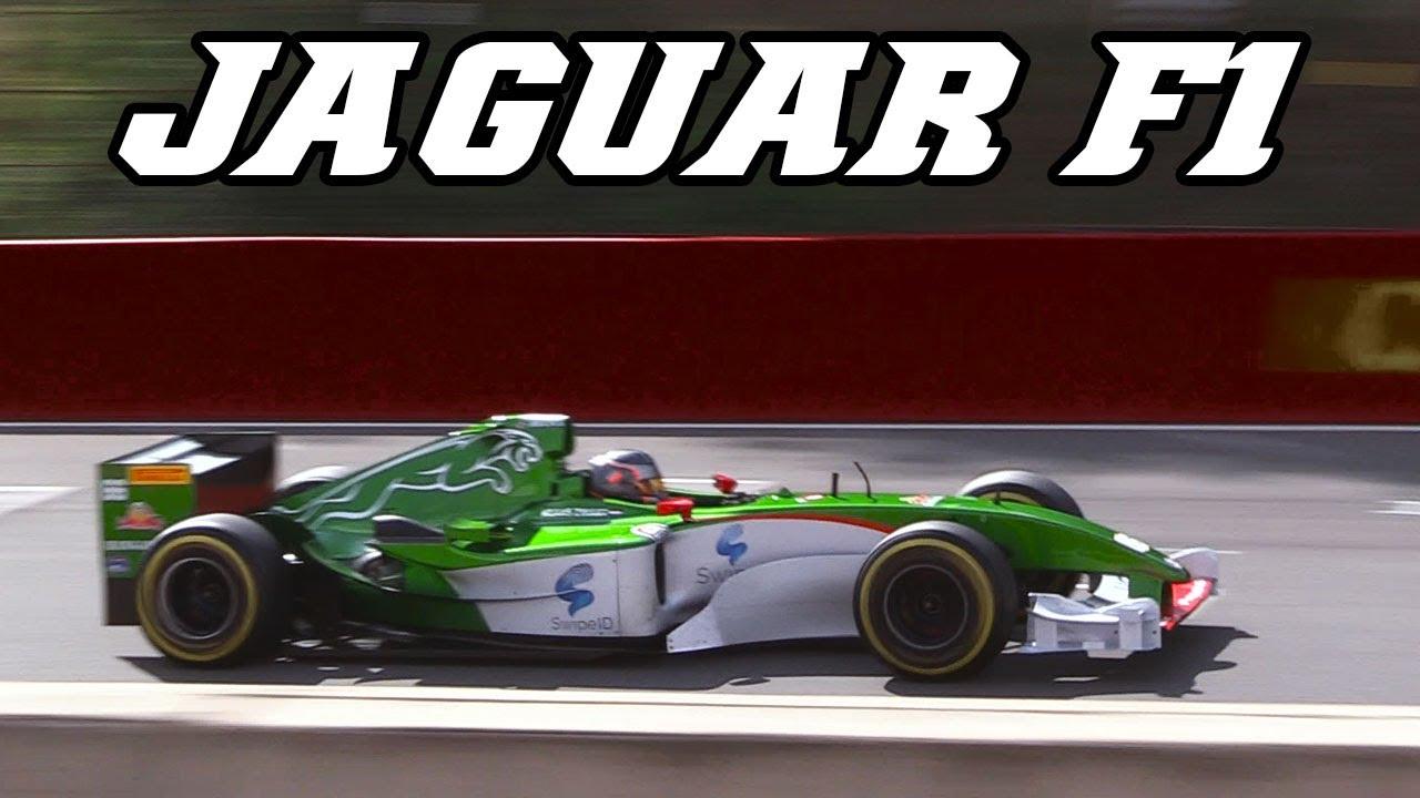 Jaguar R5 F1 Screaming V10 At Zolder 2017 Incl Crash