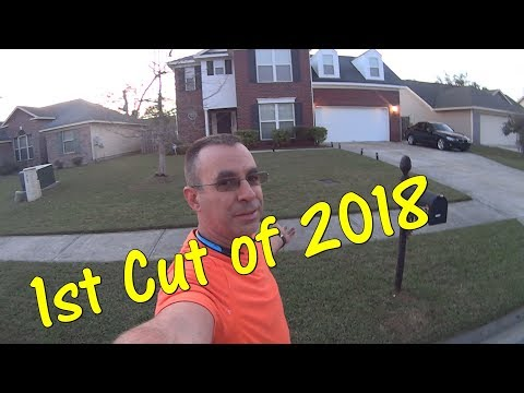2018 Lawn Care Season Begins - Realtime Grass Cutting Video
