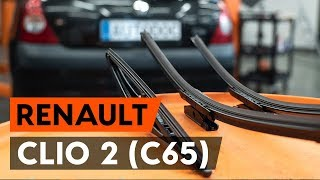 Come sostituire spazzole tergicristallo RENAULT CLIO 2 (C65) [VIDEO TUTORIAL DI AUTODOC]
