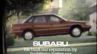 Vintage Commercials late 1990-1991 Autos Lexus LS 400 Subaru