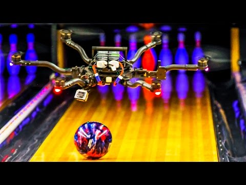 Watch a drone perform amazing sports trick shots