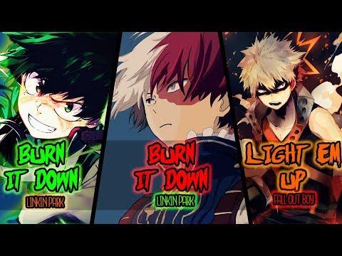 ⎡Nightcore⎦⇢ Burn It Down ✗ Light Em Up [Switching Vocals]