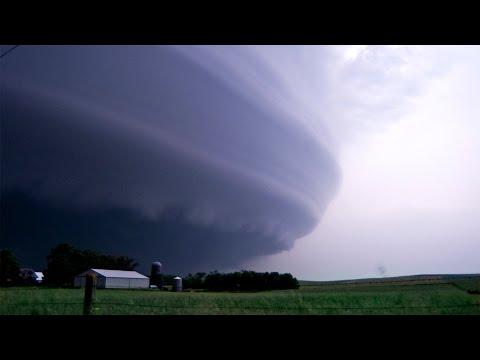 THE STORM OF A LIFETIME - Tornadoes & Lightning, Laurel NE  (6-17-14)