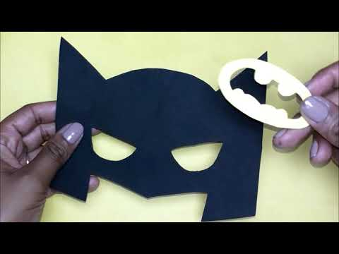 How To Make Batman S Mask Carnival Hellen Chagas Youtube