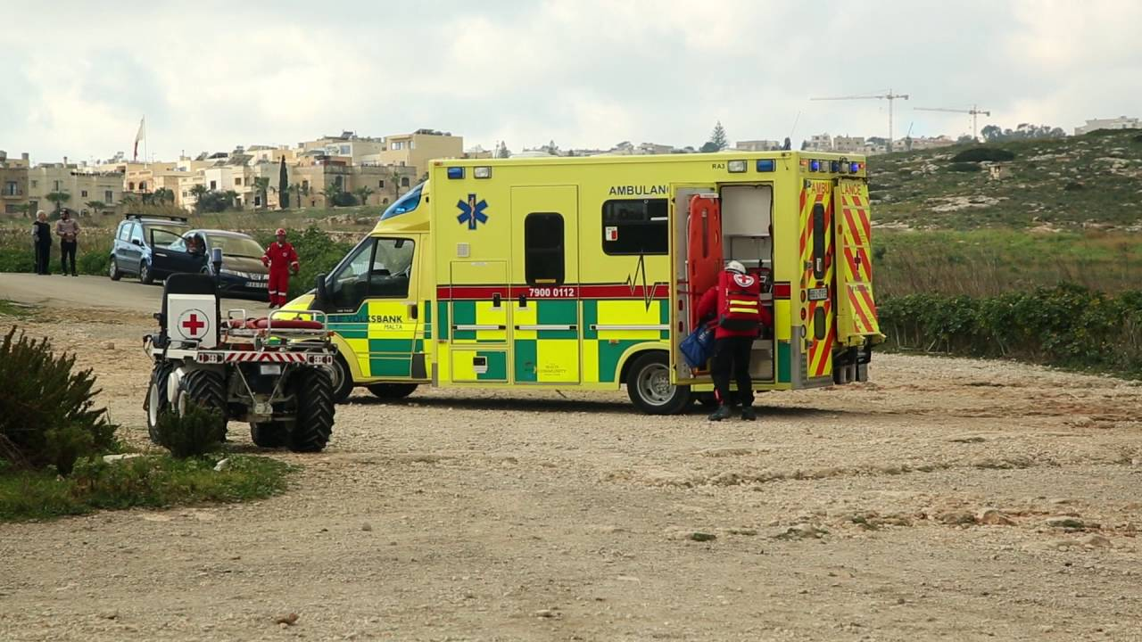Malta Red Cross - Accident Simulation Exercise - YouTube