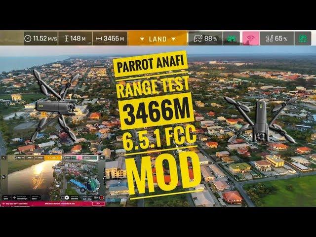 Parrot Anafi Range Test 6 5 1 FCC Mod 3466m