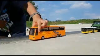 Driving toy cars on a straight line Video for Kids