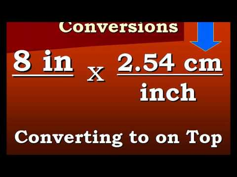 Conversion Video Inches to Centimeters and back again