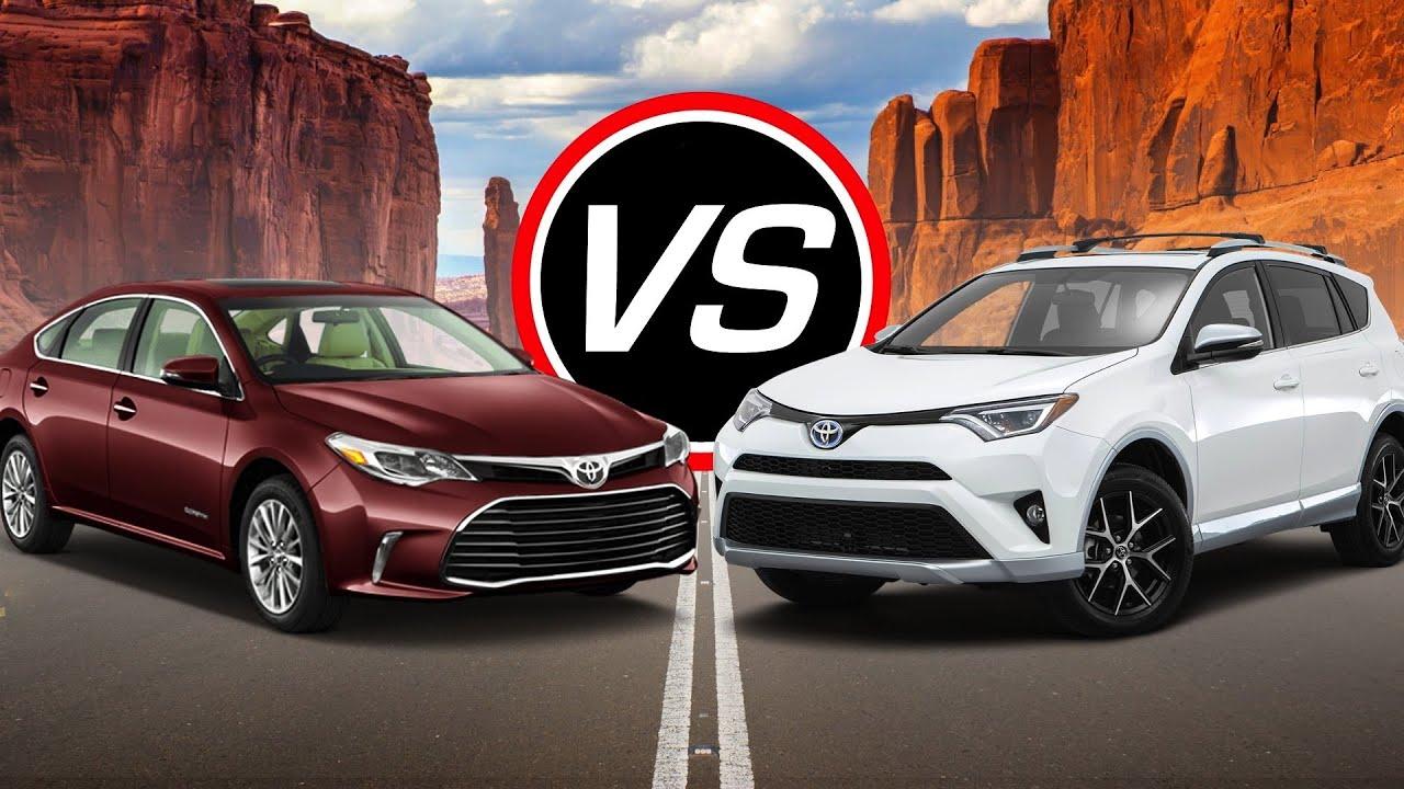 2016 Toyota Avalon Hybrid Vs Rav4 Spec Comparison