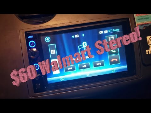 Cheap Walmart Touch Screen Head Unit Review! ($60 Walmart Stereo)