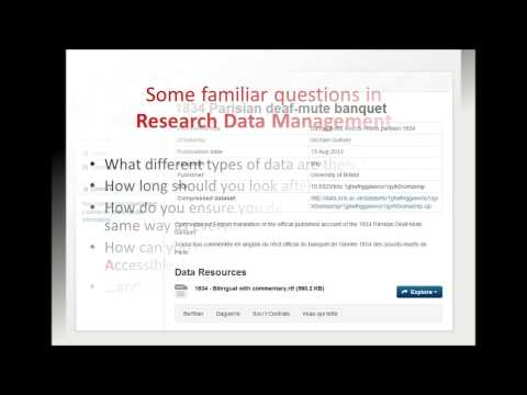 From Cataloguing to Research Data Management