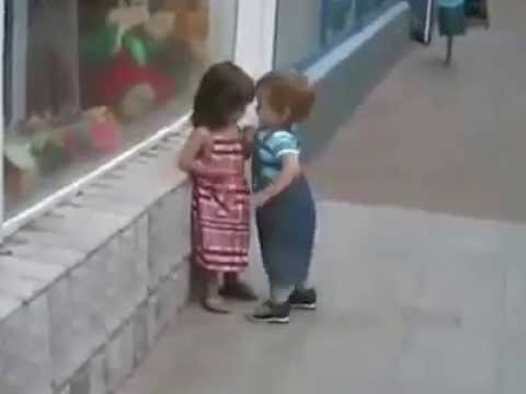 Tiny girls kissing video