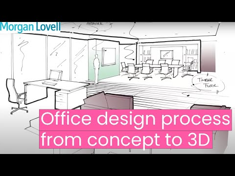 Office Design Process From Concept to 3D