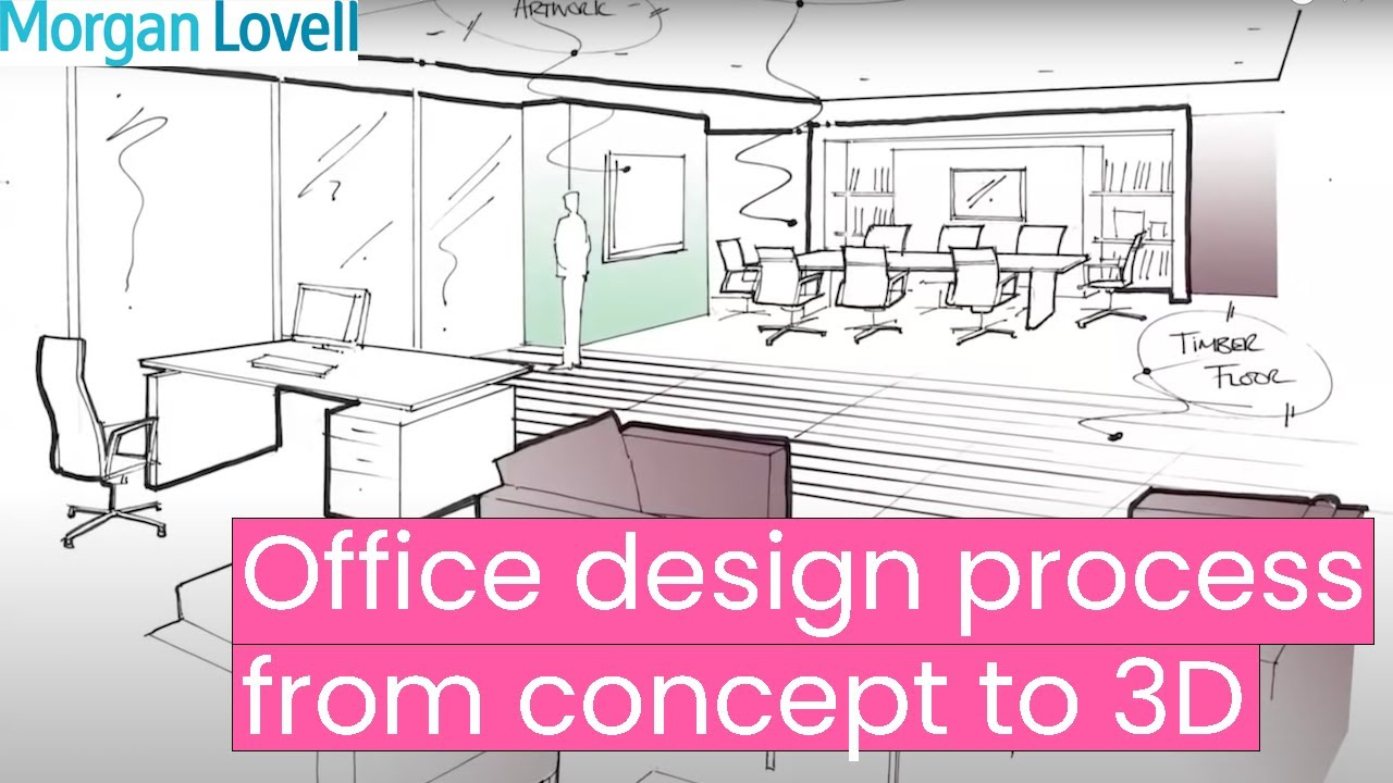 Office Design Process From Concept To 3D   YouTube