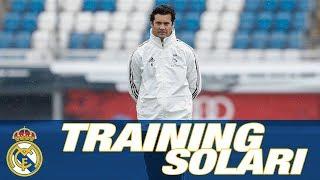SANTIAGO SOLARI | First Real Madrid training session