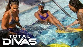 Naomi and Liv Morgan practice for a mermaid show: Total Divas Preview Clip, Oct. 15, 2019