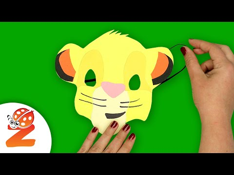 How to make a SIMBA MASK Paper Craft | Lion King Party | Fast-n-Easy | DIY Labs