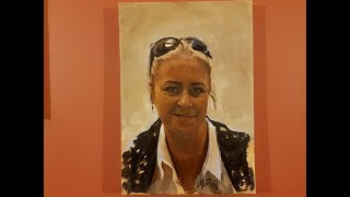 Oil portrait painting / speed painting by Marcin Bill
