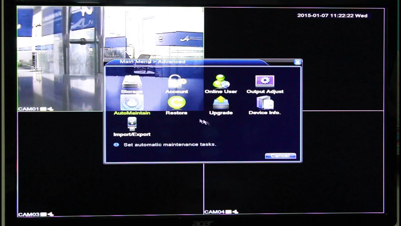 how to reset factory default- ANRAN DVR