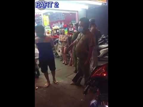 Người phụ nữ dắt con nhỏ mua đồ không chịu đeo khẩu trang, chống đối công an