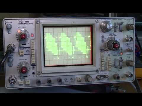 Видео Tektronix 465b oscilloscope repair tips