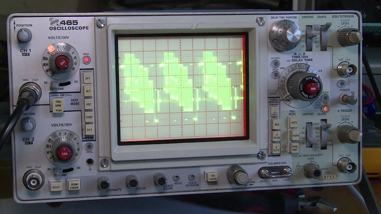 tektronix 465 oscilloscope testing youtube rh youtube com Tektronix Oscilloscope tektronix 465m oscilloscope manual