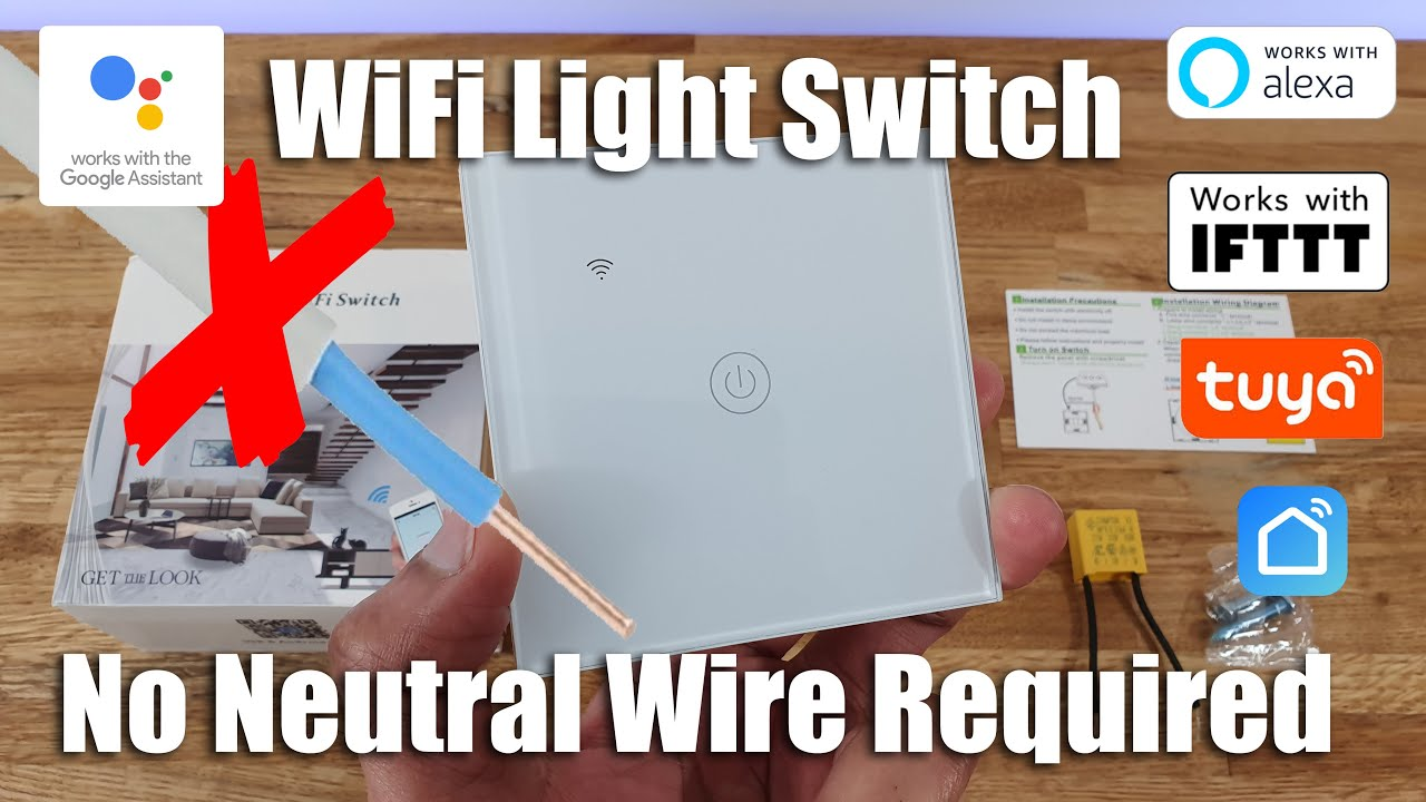 No Neutral Smart Light Switch Unboxing And Complete Setup Youtube