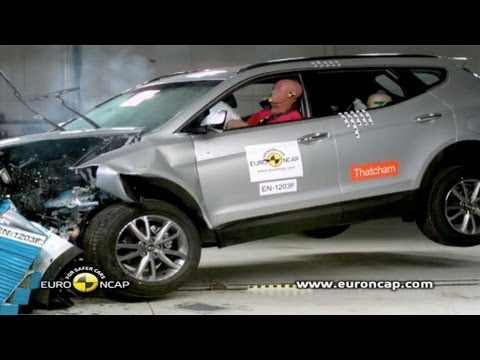 2013 hyundai santa fe crash test youtube. Black Bedroom Furniture Sets. Home Design Ideas