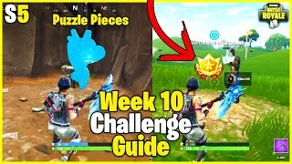 Secret Battle Pass Star + Jigsaw Puzzle Piece Locations | S5 Week 10 Challenge Guide - Fortnite