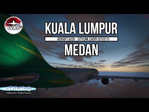 Flight Simulator Indonesia (P3D) - Aerosoft A320 - Full flight Kuala Lumpur to Medan