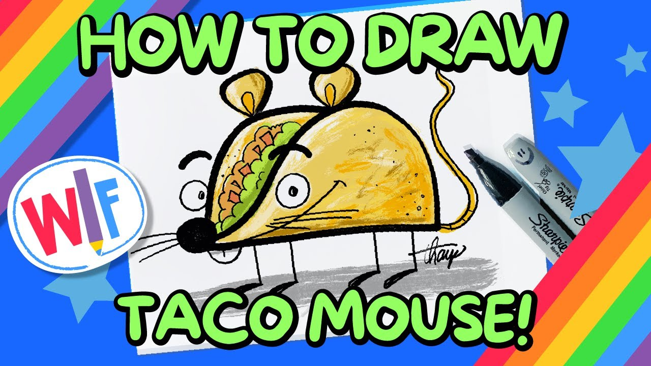 How To Draw Taco Mouse!