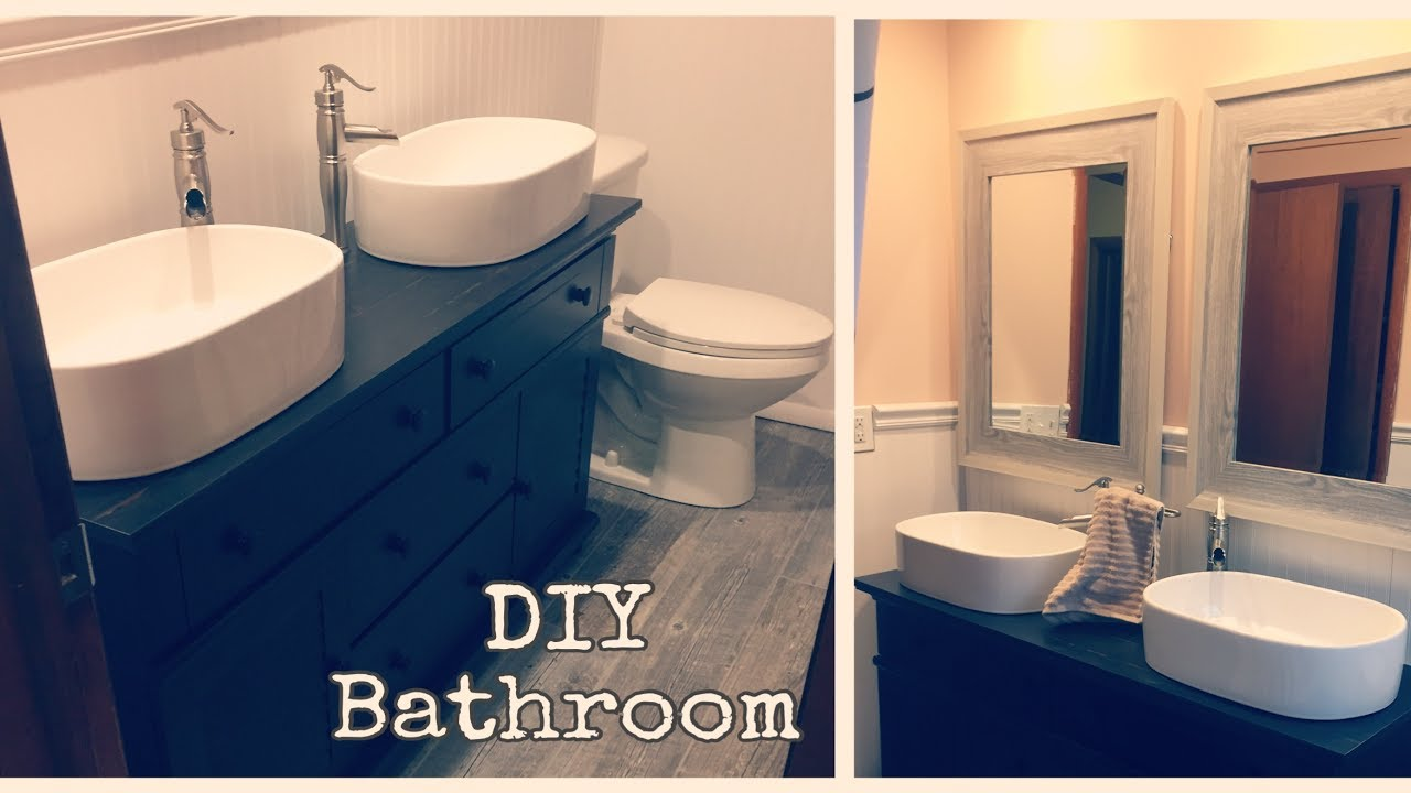 diy bathroom vanity rustic bathroom remodel