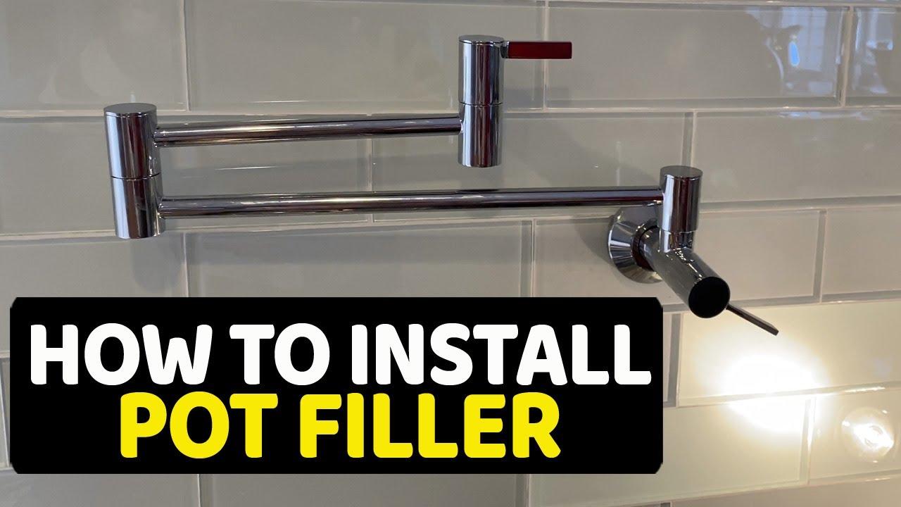 how to install pot filler