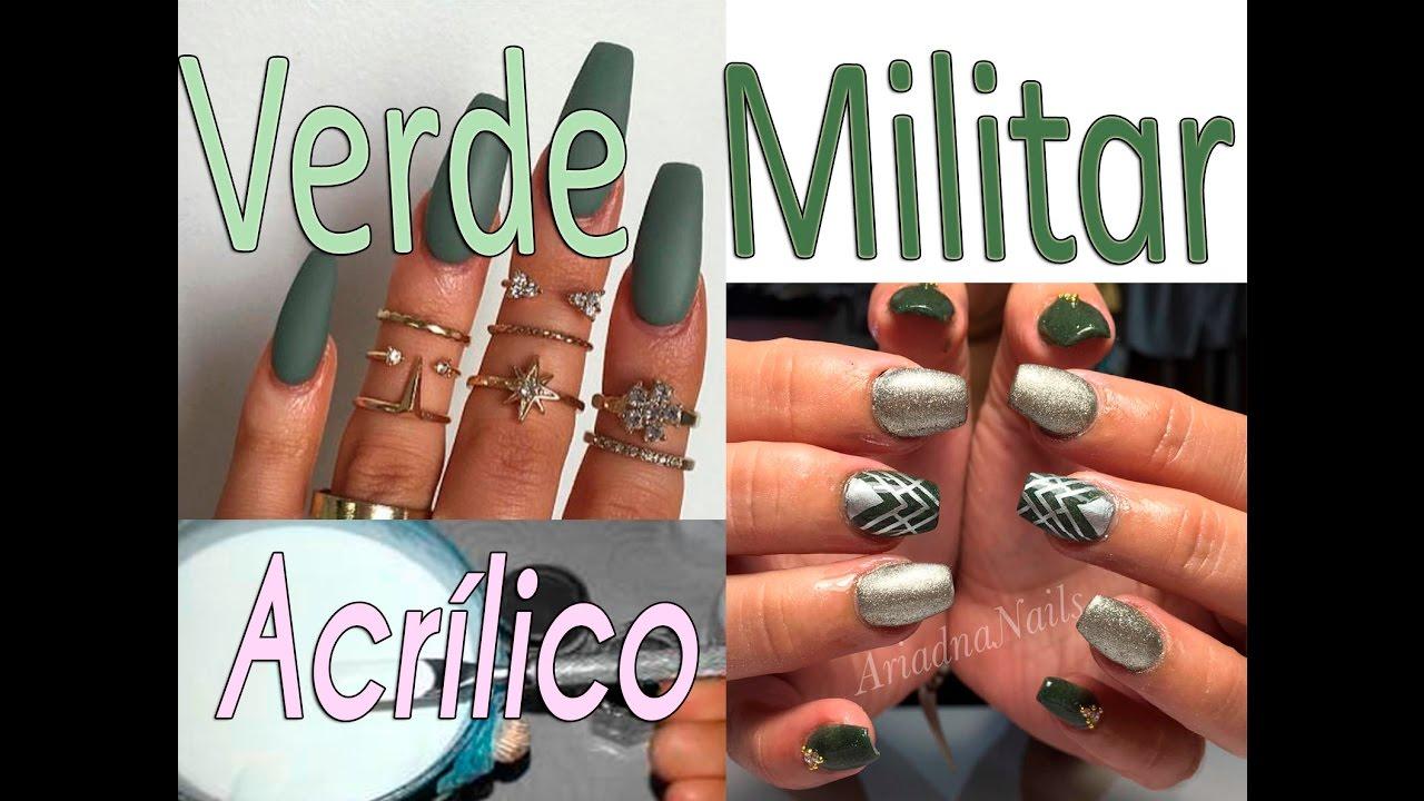 Como hacer Acrílico Verde Militar !! - YouTube