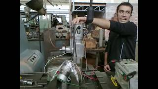 Single cylinder engine designed and build by mechanical engineering students