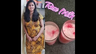 Rose Milk made at home In English