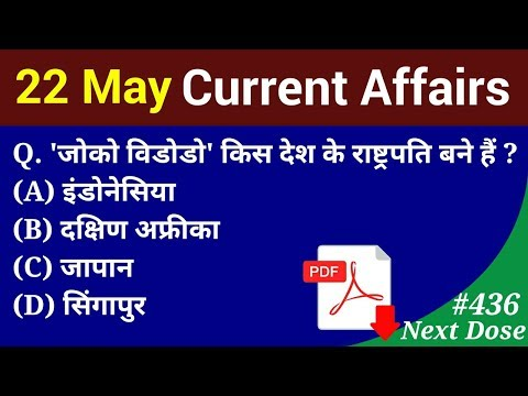 TODAY DATE-22/05/2019 CURRENT AFFAIRS PDF FILE DOWNLOAD AND VIDIEO