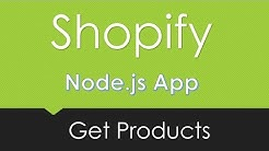 Shopify | Get Products | Node.js