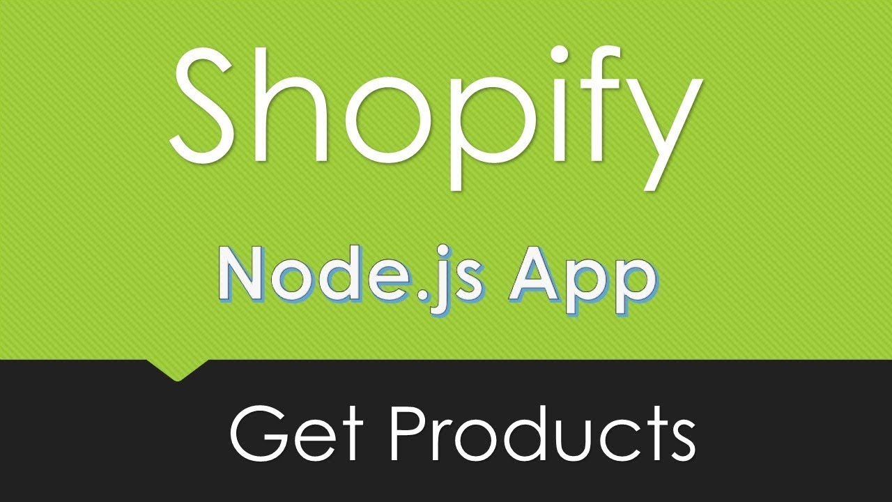 Shopify | Get Products | Node js