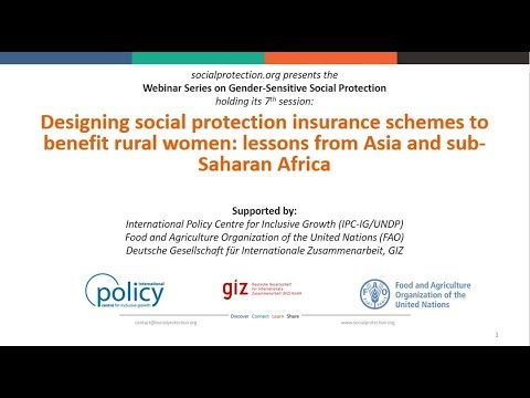 Designing social protection insurance schemes to benefit rural women  lessons from