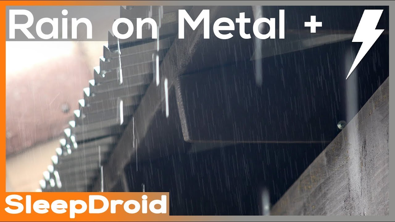 Fall Asleep Fast 4k Rain Video 5 Hours Rain On Tin Roof
