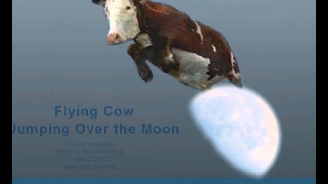 Flying Cow Jumping Over The Moon Youtube