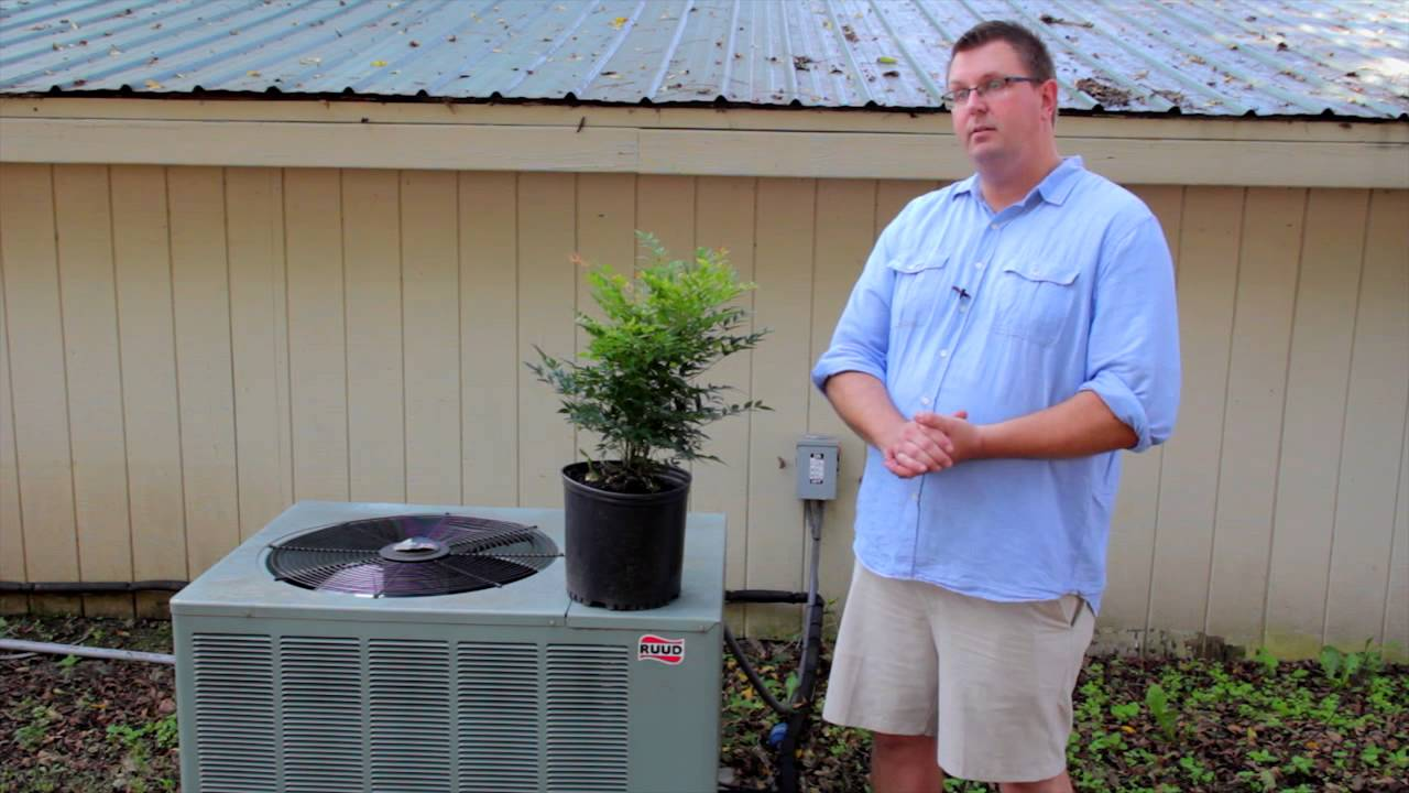 How To Landscape Around An Air Conditioner Designed