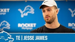 Jesse James on helping younger players | Detroit Lions Sound Bites