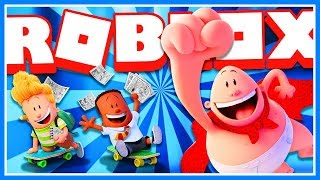 CAPTAIN UNDERPANTS MOVIE IN ROBLOX!! | Stop Professor Poopypants Adventure Obby!