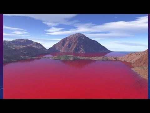 WATER BECOMES BLOOD RED