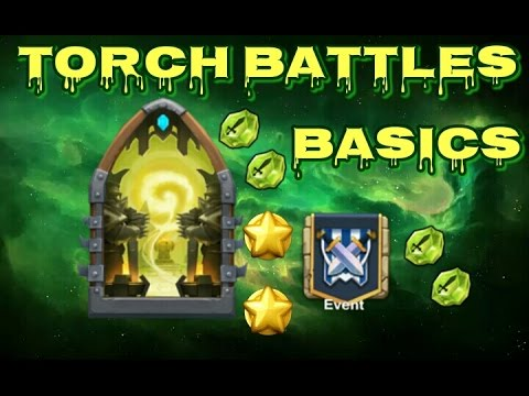 Castle Clash Torch Battle Basics!