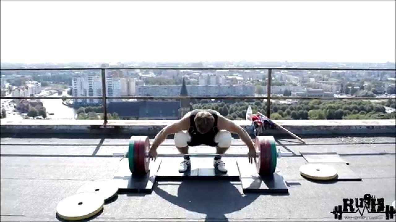 Weightlifting on top with Dmitry Lapikov. - YouTube