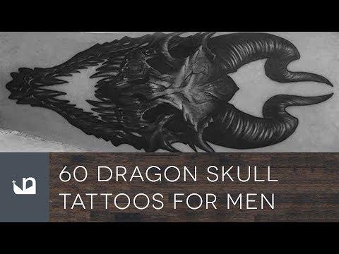 60 Dragon Skull Tattoos For Men